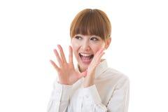 Vrouw aan steun Royalty-vrije Stock Fotografie