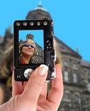 Vrouw in Amsterdam Stock Afbeelding