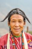 Vrouw in Arunachal Pradesh Stock Foto