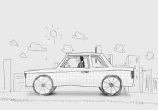 Vrouw in Auto Royalty-vrije Stock Afbeelding