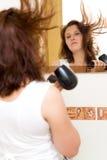 Vrouw in badkamers Stock Fotografie