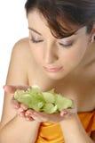 Vrouw in beauty spa Royalty-vrije Stock Afbeelding