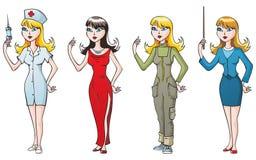 Vrouw-beroeps stock illustratie