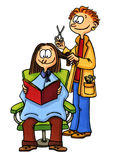 Vrouw bij de kapper Stock Afbeelding