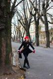 Vrouw bij de Promenade Strossmayer Royalty-vrije Stock Foto
