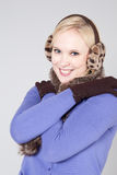 Vrouw bij de winter Royalty-vrije Stock Fotografie