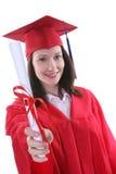 Vrouw bij Graduatie stock foto