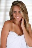 Vrouw bij Kuuroord Royalty-vrije Stock Fotografie