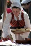 Vrouw bij Renaissance Faire Royalty-vrije Stock Fotografie