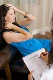 Vrouw bij therapie Stock Afbeeldingen