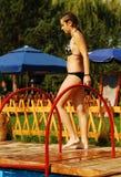Vrouw in bikini Royalty-vrije Stock Foto