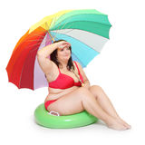 Vrouw in bikini. stock foto