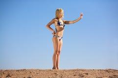 Vrouw in Bikini Stock Afbeelding