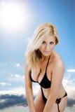 Vrouw in bikini Royalty-vrije Stock Afbeeldingen