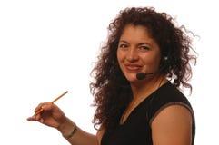 Vrouw in bureau Royalty-vrije Stock Afbeelding