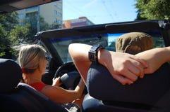 Vrouw in cabriolet Royalty-vrije Stock Foto
