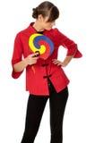 Vrouw in Chinese kleding op manierweek in Parijs Stock Foto's