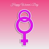 Vrouw dag 8 maart-kaart eps 10 Stock Foto's