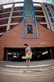 Vrouw dansende 2 Stock Afbeelding