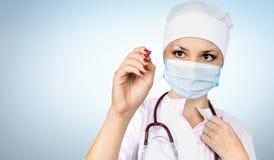 Vrouw de arts Stock Afbeelding