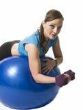 Vrouw de bal van de opleidingsoefening Royalty-vrije Stock Foto