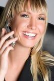 Vrouw de bedrijfs van de Telefoon stock fotografie
