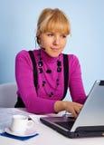 Vrouw - de dienst van de managersteun stock foto