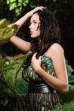 Vrouw in de geheime tuin Royalty-vrije Stock Foto's
