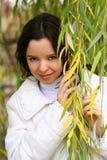 Vrouw in de herfst Royalty-vrije Stock Foto's
