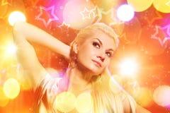 Vrouw in de nachtclub royalty-vrije stock foto's