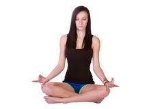 Vrouw in de Positie van de Yoga Royalty-vrije Stock Foto