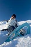 Vrouw in de sneeuw Stock Afbeeldingen