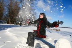 Vrouw in de winter Royalty-vrije Stock Afbeeldingen