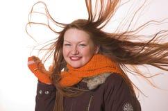 Vrouw in de winterkleren Stock Fotografie