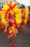 Vrouw in de zomerCarnaval parade 2012 Stock Foto's