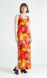 Vrouw in de zomerkleding royalty-vrije stock afbeeldingen