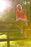 Vrouw in de zon Stock Fotografie