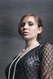 Vrouw in de zwarte Royalty-vrije Stock Foto