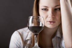 Vrouw in depressie Royalty-vrije Stock Afbeeldingen