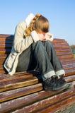 Vrouw in depressie Royalty-vrije Stock Foto