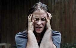 Vrouw in depressie Royalty-vrije Stock Foto's