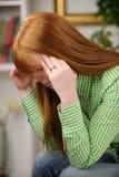 Vrouw die aan depressie lijdt Royalty-vrije Stock Afbeelding