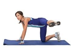 Vrouw die aerobics doet Royalty-vrije Stock Afbeelding