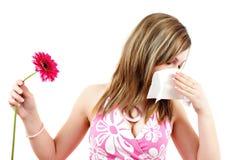 Vrouw die allergie heeft Royalty-vrije Stock Foto
