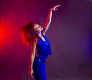 Vrouw die bij partij danst Royalty-vrije Stock Foto