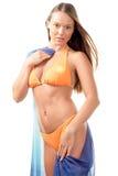 Vrouw die bikini draagt Royalty-vrije Stock Foto