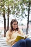 Vrouw die een boek lezen Stock Fotografie