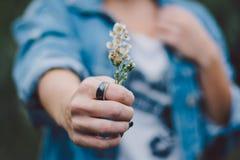 Vrouw die een ring dragen royalty-vrije stock fotografie