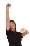 Vrouw die geschiktheidsoefeningen doet royalty-vrije stock afbeelding