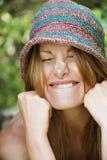 Vrouw die gezicht maakt. Royalty-vrije Stock Foto